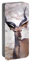 The Kudu Portrait 2 Portable Battery Charger by Ernie Echols