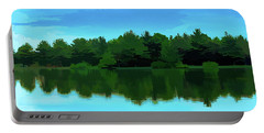 The Lake - Impressionism Portable Battery Charger