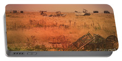 Portable Battery Charger featuring the photograph The Landscape Of Dungeness Beach, England 2 by Perry Rodriguez