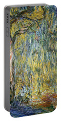 The Large Willow At Giverny Portable Battery Charger