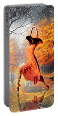 The Last Dance Of Autumn - Fantasy Art  Portable Battery Charger