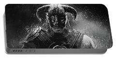 Portable Battery Charger featuring the digital art The Last Dragonborn - Skyrim by Taylan Apukovska