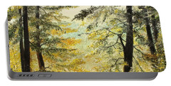 Portable Battery Charger featuring the painting The Last Hill by Sorin Apostolescu