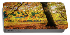 The Last Rays Of Golden Autumn Portable Battery Charger