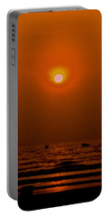 Portable Battery Charger featuring the photograph The Last Rays by Sher Nasser
