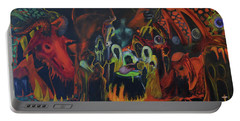 Portable Battery Charger featuring the painting The Last Supper by Christophe Ennis