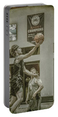 Portable Battery Charger featuring the photograph The Layup by Ronald Santini