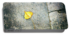 Portable Battery Charger featuring the photograph The Leaf by Silvia Ganora