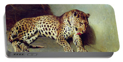 The Leopard Portable Battery Charger by John Sargent Noble
