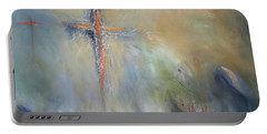 The Light Of Christ Portable Battery Charger by Roberta Rotunda