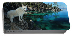 The Light Of Lake Tahoe Portable Battery Charger