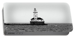 The Lighthouse Black And White Portable Battery Charger