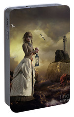 Portable Battery Charger featuring the digital art The Lighthouse Keeper's Daughter by Shanina Conway