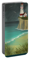 The Lighthouse On The Cliff Portable Battery Charger