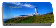 The Lighthouse On The Mull With Poem Portable Battery Charger