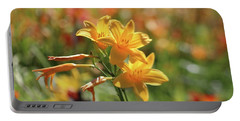 The Lilies Arrayed Portable Battery Charger