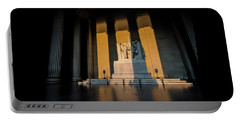 The Lincoln Memorial At Sunrise Portable Battery Charger