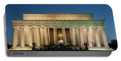 Portable Battery Charger featuring the photograph The Lincoln Memorial by Mark Dodd