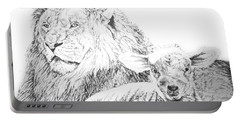 The Lion And The Lamb Portable Battery Charger