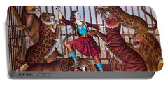 The Lion Queen Print, 1874 Portable Battery Charger