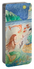 The Little Mermaid Portable Battery Charger by Veronica Rickard
