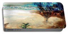 Portable Battery Charger featuring the painting The Little Pine Tree by Winsome Gunning