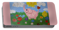 Little Pink Elephant Portable Battery Charger