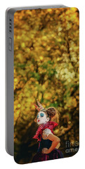 Portable Battery Charger featuring the photograph The Little Queen Of Hearts Alice In Wonderland by Dimitar Hristov