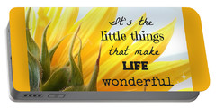 The Little Things Portable Battery Charger by Inspired Arts