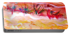 Portable Battery Charger featuring the painting The Living Dunes by Winsome Gunning
