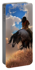 Portable Battery Charger featuring the digital art The Long Journey Home by Daniel Eskridge