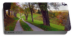 The Long Road In Autumn Portable Battery Charger by Mike Murdock