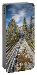 Portable Battery Charger featuring the photograph The Long Walkway by Bill Howard