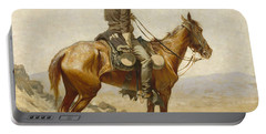 The Lookout Portable Battery Charger by Frederic Remington