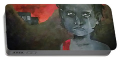 Portable Battery Charger featuring the digital art The Lost Children Of Aleppo by Joseph Hendrix