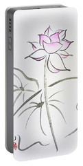 The Lotus Rises Out Of Muddy Waters Untainted Portable Battery Charger