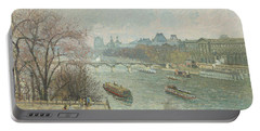 The Louvre, Afternoon, Rainy Weather, 1900  Portable Battery Charger