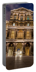 The Louvre Museum At Night Portable Battery Charger