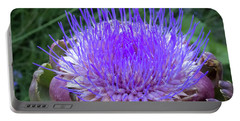 The Loveliness Of An Artichoke Portable Battery Charger by Mary Lee Dereske