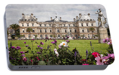 Portable Battery Charger featuring the digital art The Luxembourg Palace by Kai Saarto