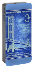 The Mackinac Bridge Stamp Portable Battery Charger