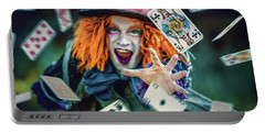 Portable Battery Charger featuring the photograph The Mad Hatter Alice In Wonderland by Dimitar Hristov