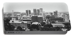 Portable Battery Charger featuring the photograph The Magic City In Monochrome by Shelby Young