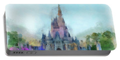The Magic Kingdom Castle Wdw 05 Photo Art Portable Battery Charger