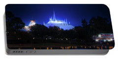 Portable Battery Charger featuring the photograph The Magic Kingdom Entrance by Mark Andrew Thomas