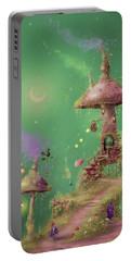 The Mushroom Gatherer Portable Battery Charger by Joe Gilronan