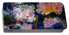 The Magic Of Flowers Portable Battery Charger by Nancy Kane Chapman