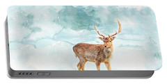 Portable Battery Charger featuring the painting The Magic Of Winter  by Colleen Taylor