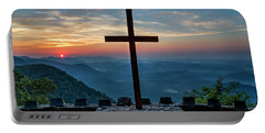 The Magnificent Cross Pretty Place Chapel Greenville Sc Great Smoky Mountains Art Portable Battery Charger