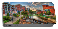 The Main Attraction Reedy River Greenville South Carolina Art Portable Battery Charger
